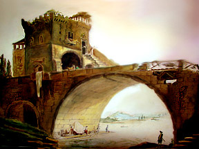 bridge painting by Hassan