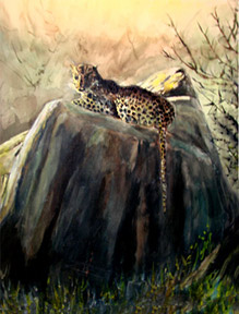 leapard-painting
